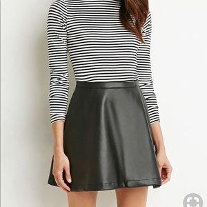 Faux Leather Skater Skirt!!